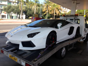car towing recovery london sport cars