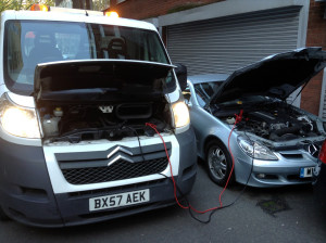 Car battery jumpstart in London